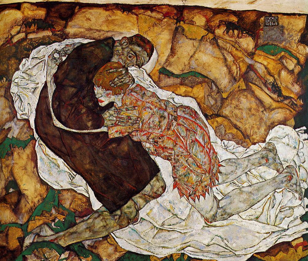 Death And The Maiden, 1915 by Egon Schiele