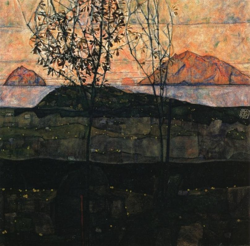 Setting Sun, 1913 by Egon Schiele