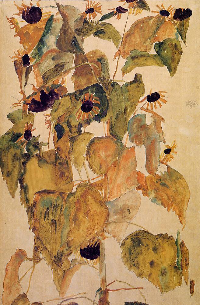 Sunflowers, 1911 by Egon Schiele