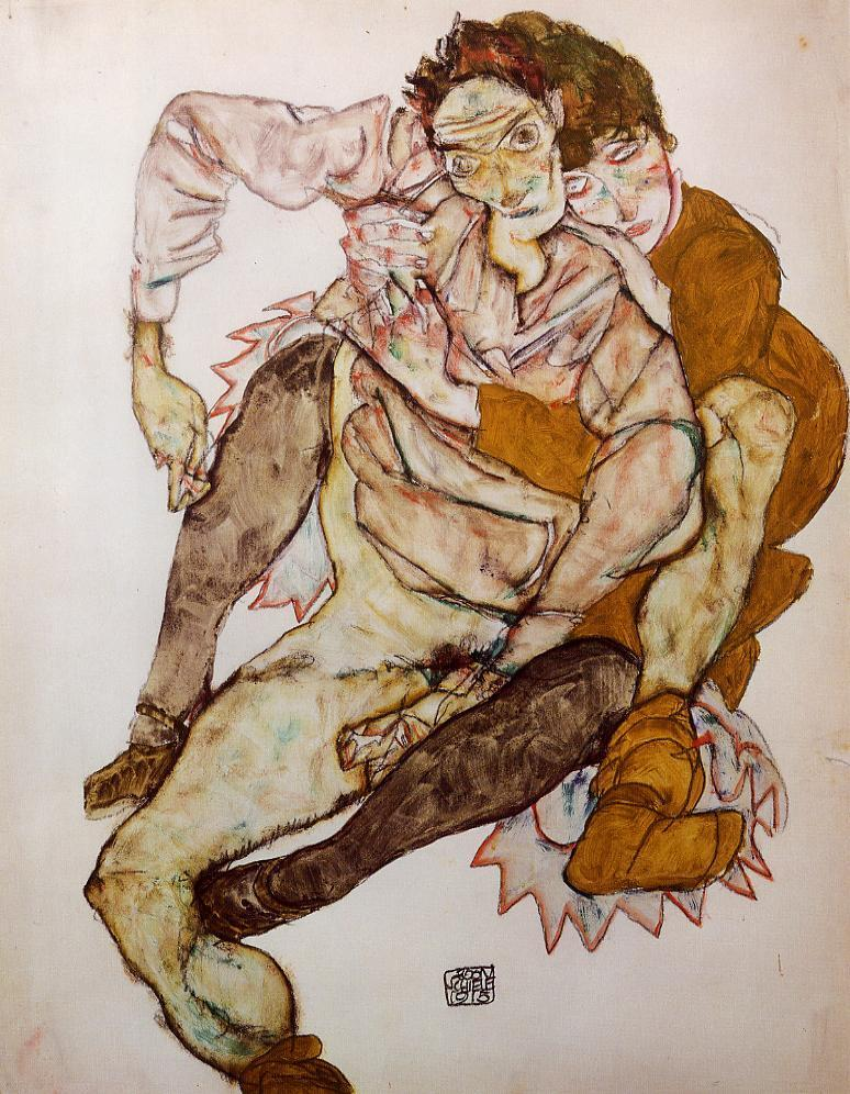 The Embrace, 1915 by Egon Schiele