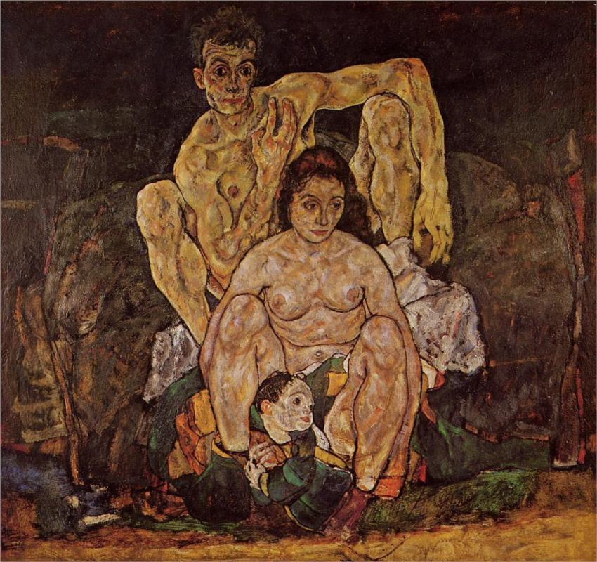 The Family, 1918 by Egon Schiele