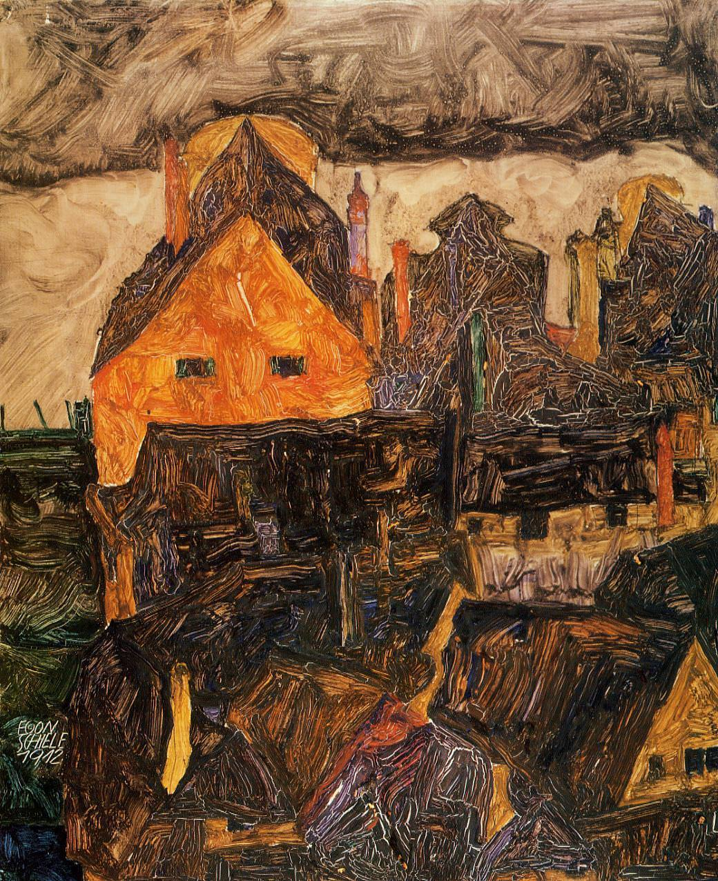 The Old City, 1912 by Egon Schiele